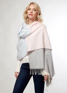Merino Wool Color Block Wrap