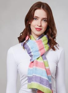 Blarney Irish Linen Bright Stripes Scarf