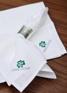 Blarney Irish Linen Embroidered Napkins 18'' x 18''