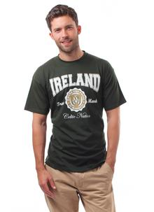 Men's Green Ireland Celtic Nation Crest T-Shirt