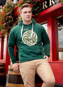 Celtic Knot Bottle Green Hoodie