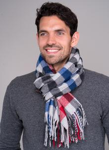 Men's Lambswool Scarf Multi Check