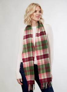 Merino Wool Scarf Irish Emerald & Heather