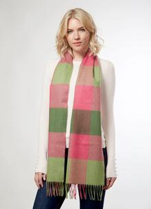 Merino Wool Scarf Pink Delight
