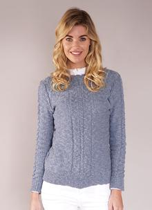 Moira Cotton Linen Sweater Denim Blue