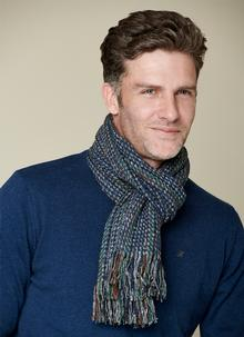 Mucros Wool Cashmere Donegal Tweed Scarf