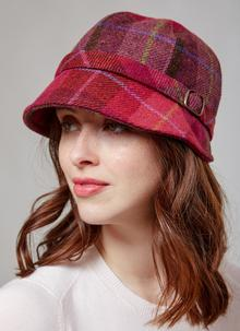 Flapper Hat Pink Check