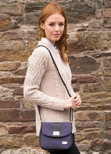 Sarah Small Bag Purple Herringbone