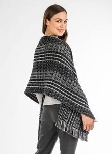 Multi Gray Honeycomb Stitch Shawl