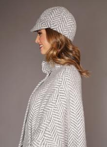 Newsboy Hat Gray Cream