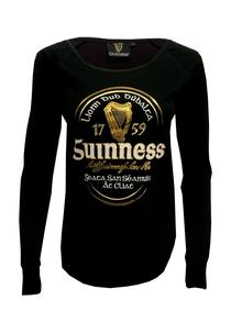 Ladies Guinness Irish Label Long Sleeve T-Shirt