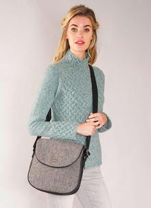 Orla Satchel Herringbone Bag