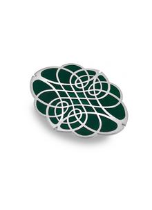Oval Celtic Knotwork Brooch