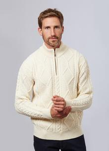 Patrick Half Zip Aran Sweater
