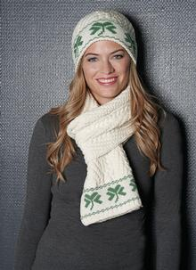 Shamrock Beanie Hat Natural