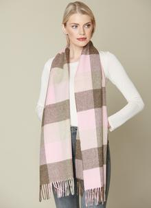 Sledmere Pink & Fawn Stole