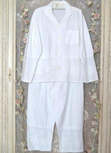 Julia Cotton Pajamas White ... cd0087f93d