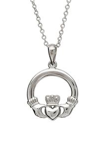 Sterling Silver Claddagh Pendant