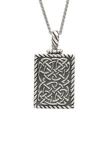 Sterling Silver Celtic Dog Tag Necklace