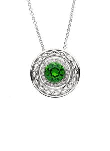 Sterling Silver Celtic Pendant Embellished With Swarovski Crystals