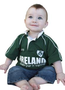 Baby Ireland Rugby Star