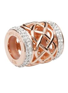 Origin Celtic Rose Gold Plated Bead Adorned With Swarovski Crystals