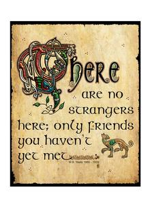 No Strangers Only Friends Metal Plaque