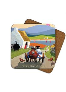 Form-Ewe-La One Coasters Set of 4