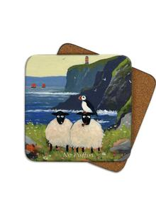No Puffin Coasters Set of 4