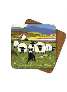 Thank Ewe For Doggy Sitting Coasters Set of 4