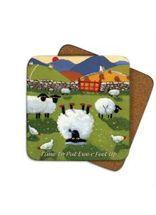 Time To Put Up Ewer Feet Coasters Set of 4