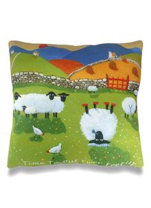 Time To Put Up Ewer Feet Cushion Cover 16 Inch