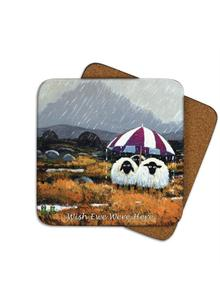 Wish Ewe Were Here Coasters Set of 4
