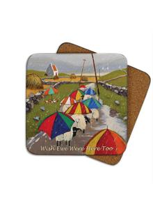 Wish Ewe Were Here Too Coasters Set of 4