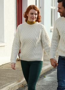 Traditional Hand Knit Aran Sweater