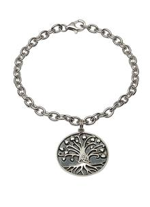 Tree of Life Trinity Disc Bracelet