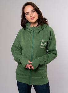 Ladies Irish Triskele Yarn Dyed Hoodie