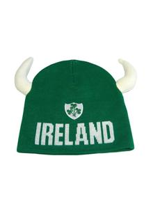 Ireland Viking Knit Hat with Horns