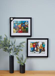 The Buskers Framed Print