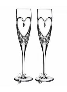 Waterford Crystal Bridal True Love Flutes Pair