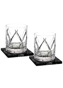 Waterford Crystal Olann Double Old Fashioned Tumbler Pair