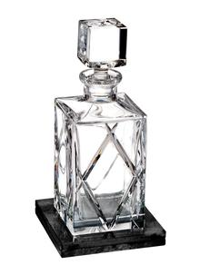 Waterford Crystal Olann Square Decanter with Marble Coaster