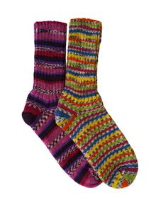 Set of 2 Ladies Fair Isle Socks