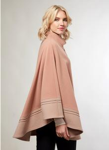 Wool Cashmere Two Tone Cape