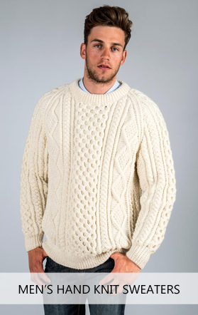 a542dc220dab9 Hand Knit Aran Sweaters for Women Hand Knit Aran Sweaters for Men