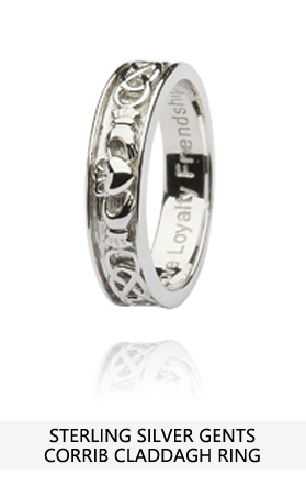 Sterling Silver Gents Claddagh Ring