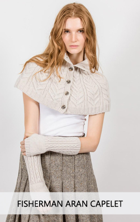 Irish Fisherman Aran Capelet