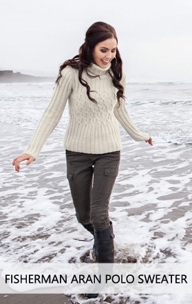 Aran Polo Fisherman Sweater